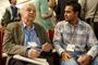 El Premio Nobel de Química 1998, Robert Huber, y Jorge Iván Amaro Estrada, uno de los mexicanos que asistió en 2016 a la 66ª Reunión Lindau con el apoyo de la Academia Mexicana de Ciencia y la Fundación Lindau, conversan al término de una conferencia magistral.