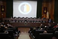 Sesión solemne de Inicio de 154 Año Académico de la ANM en el Salón de Actos de la Unidad de Congresos del Centro Médico Nacional Siglo XXI.