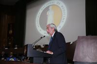 Rinde el doctor Enrique Graue Wiechers último informe de actividades en la ceremonia que clausuró el 153 Año Académico de la Academia Nacional de Medicina y dio inicio al 154 Año Académico de la prestigiada organización.