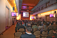 El público en general presenció el ingreso de la doctora Estela Susana Lizano Soberón, en el Aula Mayor de El Colegio Nacional.