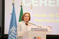 Doctora Ana María Cetto Kramis, coordinadora del Comité del Año Internacional de la Luz 2015, en México.