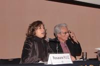 La doctora Rosaura Ruiz, directora de la Facultad de Ciencias de la UNAM, en la presentación del doctor Albert Fert.