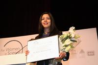 La doctora Maritza Lara López fue reconocida con una de las  Becas L'Oréal-Unesco-Conacyt-AMC 2016, en el área de ciencias exactas, durante una ceremonia realizada el 5 de diciembre del presente año.