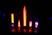Luminiscencia en maniquíes de agar y oxisulfuro de gadolinio. Pruebas experimentales realizadas por el investigador Arnulfo Martínez Dávalos en el Departamento de Física Experimental dell Instituto de Física de la UNAM