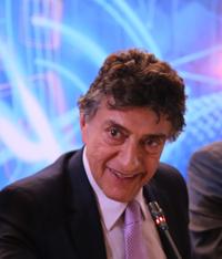 Elías Micha Zaga, coordinador de Ciencia, Tecnología e Innovación de la  Oficina de la Presidencia, en su participación en la reunión de la Comisión Ejecutiva de Ciencia y Tecnología de la Conago.