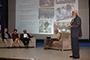De pie, el presidente de la Academia Mexicana de Ciencias, José Luis Morán López, en el homenaje por el aniversario 35 del programa Domingos en la Ciencia, realizado en el marco del XXII Congreso Nacional de la Somedicyt. Sentados: Guillermo Aguilar, Margarita Pimienta, Jorge Flores, Raymundo Cea.