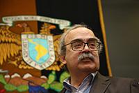 """Homenaje al doctor José Antonio de la Peña por su 60 aniversario. En su honor se organizó en el Instituto de Matemáticas de la UNAM el Congreso """"El futuro de la ciencia: especulaciones y certezas"""", del 11 al 14 de septiembre de 2018."""