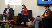 """María Elena Álvarez-Buylla indicó que ha planteado al presidente electo, Andrés Manuel López Obrador, un cambio profundo del país con el apoyo de la comunidad académica y estudiantes. Participó en la mesa de diálogo """"Nuevas propuestas para la investigación en México"""", organizada por el Centro Geo."""
