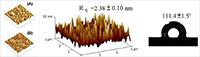 Imagen izq. Polielectrolitos autoensamblados en diferentes procesos de secado. Imagen der. Hidrofobicidad de una superficie polimérica. Ambas ilustraciones corresponden al trabajo de investigación que realiza el doctor José Elías Pérez López en el campo de las nanopartículas y biomoléculas.