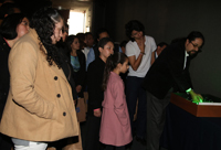 La exposición Lumina, instalada en el auditorio de la AMC fue visitada por los maestros y sus familias.