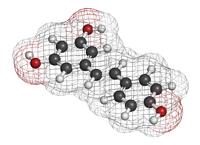Molécula de resveratrol, un antioxidante. Investigadores del Laboratorio de Alta Tecnología de Xalapa de la Universidad Veracruzana, encabezados por Ángel Trigos Landa, realizaron pruebas a diferentes vinos, de distintos países, uvas y tipos, y hallaron que la gran mayoría son sensibles a la luz y producen oxígeno singulete, lo que provoca oxidación celular. Por esta razón el vino no se envasa en vidrio transparente.