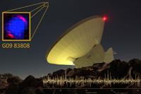 """Con el Gran Telescopio Milimétrico """"Alfonso Serrano"""" (GTM), ubicado en la cima del Volcán Sierra Negra en el estado de Puebla, un grupo internacional de investigadores logró medir la distancia a la que está ubicada la galaxia G09 83808: 27 mil 500 millones de años luz, lo que la hace una de las galaxias más distantes conocidas hasta el momento."""