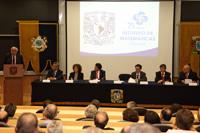 El rector de la UNAM, Enrique Graue Wiechers, presidió la ceremonia conmemorativa del 75 aniversario del Instituto de Matemáticas.