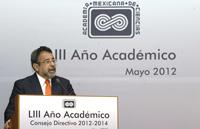 El Dr. José Franco, al asumir la presidencia de la Academia Mexicana de Ciencias para el periodo 2012-2014.
