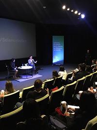 Anila Prabhu, directora de Innovación y Desarrollo de 3M en México, durante la presentación del documento en el Centro de Cultura Digital.