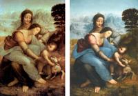 """Museo del Louvre, París (antes y después de la restauración).<br /> Luisa Ruiz Moreno, ponencia """"De l'obscurité à la clarté. Qu'est-ce qui a changé?"""", Lieja, AFS 2013"""