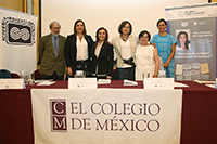 Presidieron la ceremonia de ingreso a la Academia Mexicana de Ciencias de la historiadora Consuelo Naranjo Orovio, del Consejo Superior de Investigaciones Científicas de España (centro): Carlos Marichal, Silvia Giorgulli, Rosaura Ruiz, María Teresa Cortés y Erika Pani.