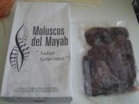 El empaque diseñado por la cooperativa Moluscos del Mayab.