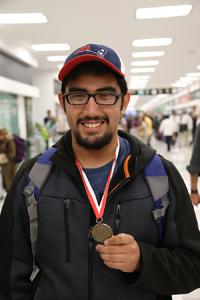 Gustavo García Venegas, ganador de la presea de bronce en el certamen celebrado en Cracovia, Polonia.