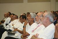 Al centro, los presidentes de la Academia Mexicana de Ciencias y de la Academia de Ingeniería de México.