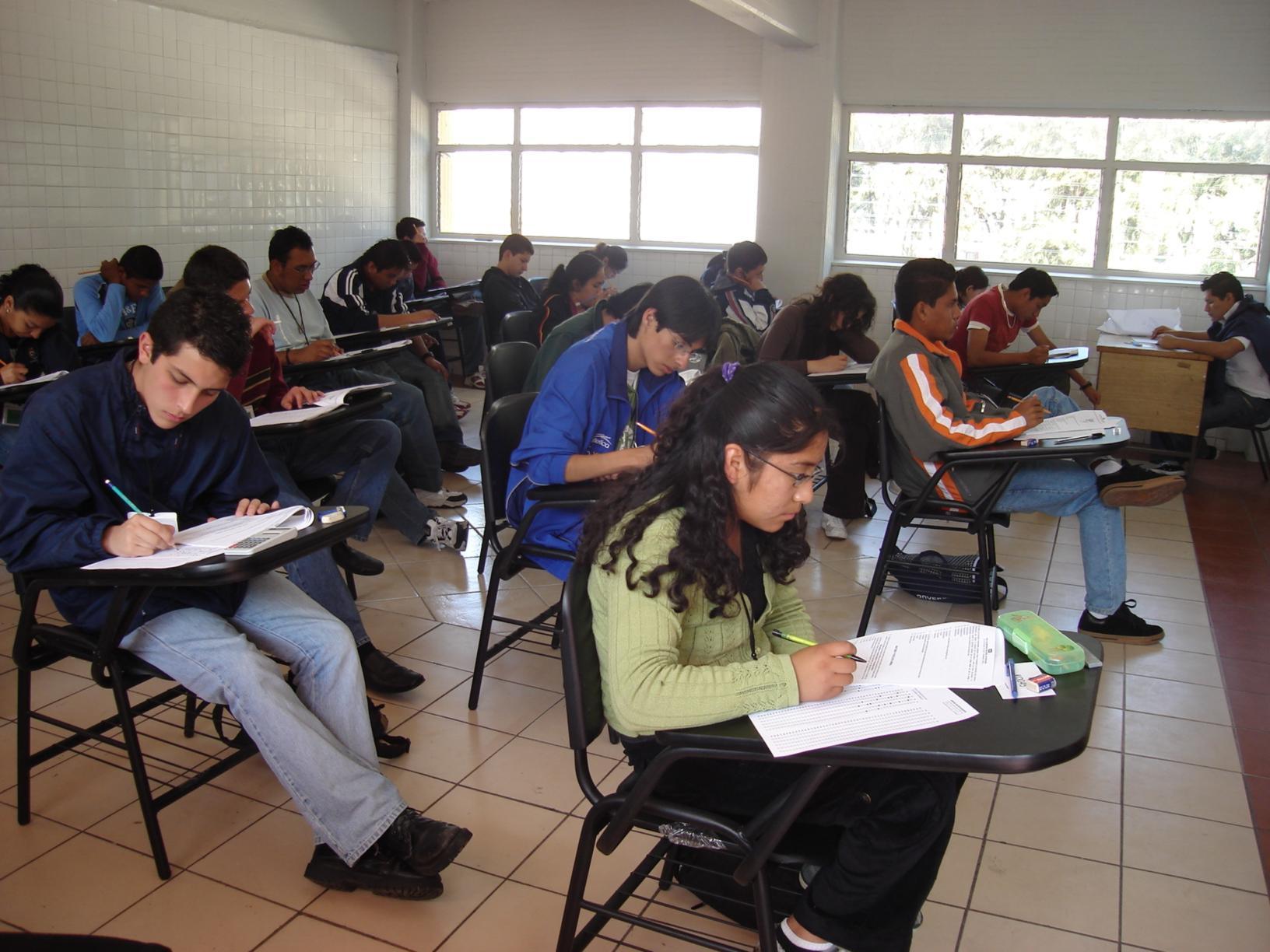 de este examen determinarán el 50 por ciento de los estudiantes ...