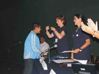 El evento de premiación fue encabezado por Soledad Loaeza, coordinadora de la I Olimpiada Mexicana de Historia y Alicia Lebrija, Directora de Educación y Capacitación de la Fundación Televisa.