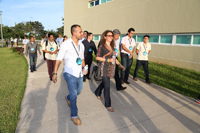 Aspecto del recorrido que realizaron los investigadores en el Parque Científico y Tecnológico de Yucatán.