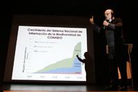 El doctor José Sarukhán, coordinador nacional de Conabio, ex presidente de la Academia Mexicana de Ciencias y socio fundador de la Somedicyt, dio la conferencia