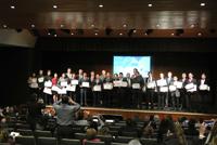 Ganadores del cuarto concurso Vive conCiencia, estudiantes universitarios de Yucatán, Chiapas, Baja California, Veracruz, Querétaro, Tabasco, Chihuahua y Puebla.