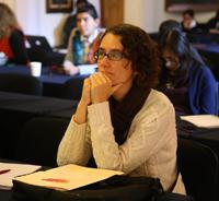 Joven investigadora participante en la tercera edición de Construyendo el futuro, Encuentros de ciencia, Morelia 2017.
