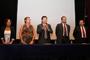Mayra de la Torre, Eulalia Pérez Sedeño, Pablo Wong González, David René Romero y Lorenzo Felipe Sánchez, integrantes de la mesa de honor en la inauguración del