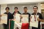 Arieh Díaz De León, de Durango; Edwin Alejandro Chávez Esquivel, del Estado de México; Gerardo Cendejas Mendoza, de Michoacán; y José Santiago Jara Sarracino, de Sonora, integrantes del equipo mexicano que participó en la 29 Olimpiada Internacional de Biología en Teherán, República Islámica de Irán, del 15 al 22 de julio.