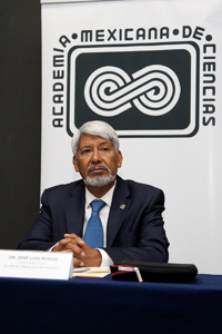 José Luis Morán, presidente de la Academia Mexicana de Ciencias, ofreció una rueda de prensa en la que abordó la conveniencia de llevar a cabo cambios en la estructura y políticas para el desarrollo de la ciencia y tecnología en el país y el panorama del sector ante las próxima elección presidencial en el 2018..