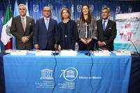 En la presentación en México del Informe de Seguimiento de la Educación en el Mundo 2016 de la UNESCO participaron: Víctor Carreón (Conacyt), Otto Granados (SEP), Nuria Sanz (UNESCO-México), Patricia Vázquez (SEP-Puebla), y José Mustre (Cinvestav).