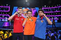 Los tres primeros lugares de la X Olimpiada Mexicana de Historia: Eduardo Dávila Dávila, de Oaxaca, segundo lugar; Mariano Torres Romero, primer lugar; y Yadir Sánchez Tafoya, tercer lugar; ambos del Estados México.