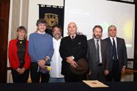 Integrantes del comité organizador de la Noche de las Estrellas e invitados en el anuncio de la séptima edición del evento masivo.