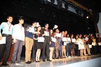 Ganadores de medalla de bronce en la XXVI Olimpiada Nacional de Biología celebrada del 22 al 26 de enero, en San Francisco de Campeche. Campeche.