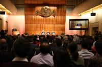 En el Aula Mayor, que lució completamente llena, se llevó a cabo la ceremonia de ingreso del miembro número 96 en la historia de El Colegio Nacional.