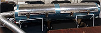 Prototipo irradiador de luz ultravioleta de onda corta (cerrado). Este aparato, creado por la investigadora Claudia Hernández Aguilar, del ESIME-Zacatenco, y colaboradores, ayuda a combatir microorganismos asociados a las semillas.