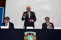 Ceremonia conmemorativa del 50 aniversario del Instituto de Ciencias Nucleares, la cual fue presidida por el rector de la UNAM, Enrique Graue Wiechers.
