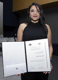 Doctora Daniela Silva Ayala, Premio Weizmann 2015 en el área de ciencias naturales.