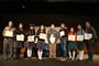 Alumnos de nivel medio superior ganadores del XXVI Concurso Nacional de Aparatos y Experimentos de Física en las modalidades de didáctico, experimento y tecnológico, acompañados por sus respectivos profesores. El certamen lo organiza la Sociedad Mexicana de Física.