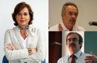Tres ex presidentes de la AMC opinan sobre el presupuesto para ciencia, tecnología e innovación 2014. En la Imagen Rosaura Ruiz, René Drucker y José Antonio de la Peña.