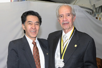 Los doctores Jaime Urrutia y Carlos Gual, presidente y expresidente de la Academia Mexicana de Ciencias, respectivamente.