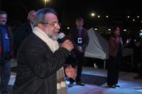El doctor José Franco, expresidente de la Academia Mexicana de Ciencias y coordinador general del programa Noche de las Estrellas, durante la inauguración de la novena edición del evento de divulgación científica en las Islas de Ciudad Universitaria.