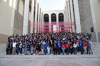 Con la participación de 179 estudiantes de nivel bachillerato dio inicio la XXVIII Olimpiada Nacional de Biología (ONB) en la Universidad de Sonora. En la imagen: foto de grupo, al centro las autoridades universitarias y representantes del sector de Educación del estado, así como miembros del comité organizador de la ONB.