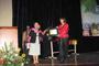 Recibe Dra. María Cristina Revilla, coordinadora de la Olimpiada Nacional de Biología de la AMC,  reconocimiento de la UASLP por su trabajo y esfuerzo para la realización de la XX Olimpiada Nacional de Biología SLP 2011.