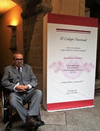 El doctor José Antonio de la Peña es el miembro número cien de El Colegio Nacional.