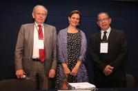 Leiv K. Sydnes,presidente de CFRS/ICSU; Erika Pani, secretaria de la AMC; y Manuel Limonta, director de ICSU/ROLAC, inauguraron el taller.