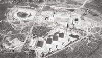 Vista aérea de Ciudad Universitaria de la UNAM, en 1952.